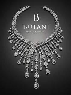 An exceptional diamond necklace fit for Royalty #Butani #ButaniJewellery #Diamond