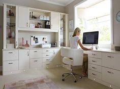 white desk office - Buscar con Google