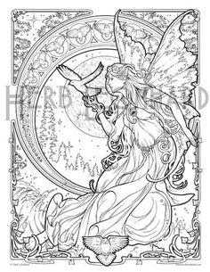 Herb Leonhard Adult Coloring Page Faerie Nouveau Book Digital Instant