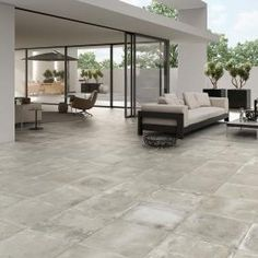 Smoked Embers Anti-Slip Tiles Foundry Concrete Effect Porcelain Tiles 500x500x9.7mm from Walls and Floors - Leading Tile Specialists - Over 20 Million Tiles In Stock - Sold Per SQM