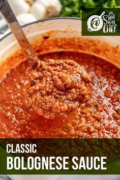 Learn three ways to make Classic Bolognese Sauce with my instructions for the stovetop, Instant Pot, and slow cooker. This traditional Italian red sauce recipe is savory, rich, and full of flavor. You can top your favorite pasta with this delicious sauce! #bolognesesauce Slow Cooker Recipes, Crockpot Recipes, Cooking Recipes, Easy Recipes, Pasta Sauce Recipes, Recipes With Red Sauce, Pasta With Red Sauce, Sauces For Pasta, Italian Dishes