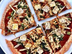 Kale With Love: Single-Serve BBQ Tofu Pizza #tofu #eztofupress