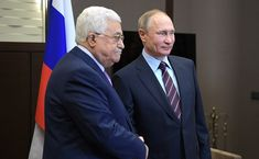PA president continues efforts to gain global support and mediators for peace process; Putin confirms he spoke with Trump ahead of meeting on conflict Israeli-Palestinian conflict; Abbas: We state …
