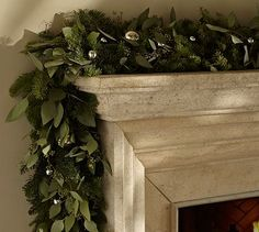 Live Seeded Eucalyptus & Silver Bell Garland ..decorations for Friendsgiving #potterybarn #AGPinGiving