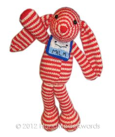 Bonnie The striped BUNNY PDF Email Knit PATTERN by HandMadeAwards, $4.50
