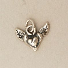 Angel Heart Charm by BellaBranchJewelry on Etsy, $19.00