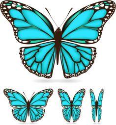 Free beautiful butterfly 03 vector design in encapsulated postscript . Green Butterfly, Butterfly Wings, Butterfly Wing Pattern, Simple Butterfly, Shield Design, Silhouette Clip Art, Butterfly Drawing, Wings Design, Unicorn Art
