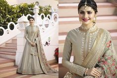 98dcb29f724 Vinay Fashion Kaseesh Rajmahal 2 Rang Plus Colors Celebrity Fashion Party  Wedding Wear Attractive Look Occasionally Prachi Desai Collection Floor  Length ...