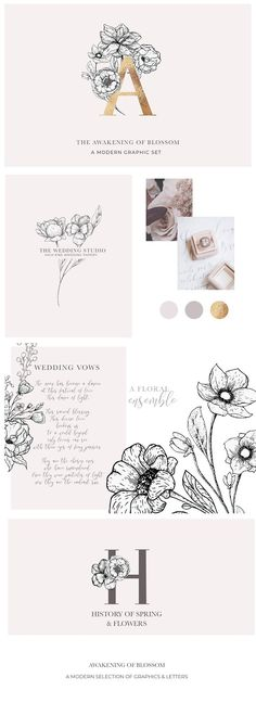 Awakening Floral Illustrations Set by Laras Wonderland on @creativemarket
