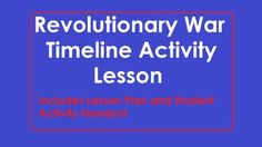 This Social Studies lesson requires learners research the American Revolutionary War and create a timeline of important events.  Included in this file is a detailed lesson plan aligned with Illinois State Learning Standards and Common Core Standards.  Also included is the activity handout for students detailing how the timeline should be set up and other requirements.