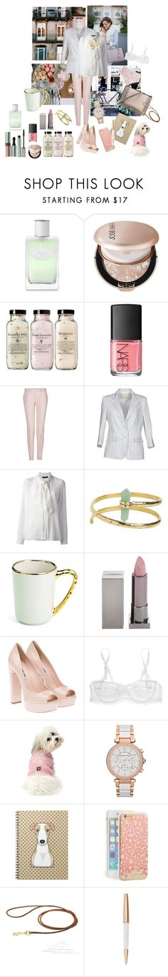 """""""Romantic blazer"""" by nathalie-puex ❤ liked on Polyvore featuring Mally, Prada, Chanel, Josie Maran, NARS Cosmetics, Cosabella, Maison Margiela, Band of Outsiders, Roberto Cavalli and From St Xavier"""