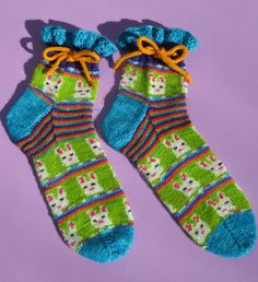 Pre-order  Easter Bunny self striping and patterning picture sock yarn kit. $60.00, via Etsy by Abi Grasso.  I JUST DID!!!