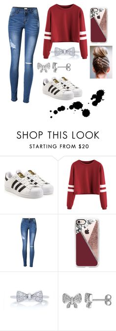 """School"" by sara-metzler on Polyvore featuring adidas, Casetify and Laura Ashley"