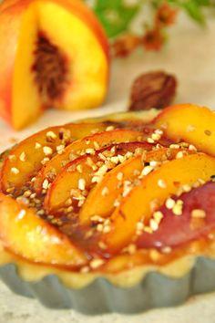 Tarte aux nectarines jaunes - recette facile - la cuisine de Nathalie
