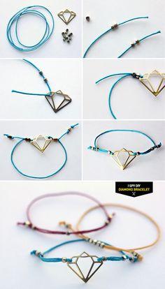 "DIY STEPS   ""Diamond"" Bracelet"