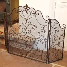 Footed Cast Iron Fire Screen