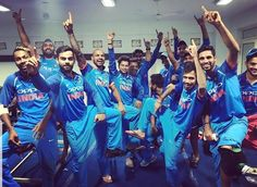 Team India celebrates win over New Zealand in KABADDI style #INDvNZ - http://ift.tt/1ZZ3e4d