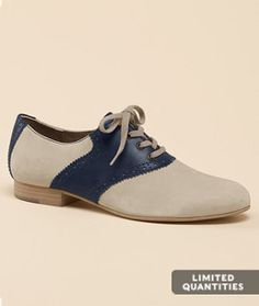 Lovely navy and cream oxfords.