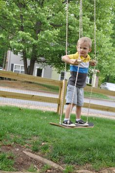 I saw this idea months ago on Pinterest...but every link that I found led to a swing set company. Boo!!! A quick search there will show ...