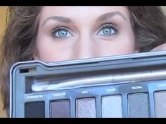 5 Min Everyday Dark Brown Makeup Tutorial With Urban Decay Naked 2 Palette - the girl is super annoying. But I like her eyeshadow!