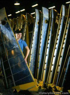 Vought F4U Corsair Line Production #Corsair #manufacturing