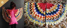 Dê asas à imaginação dos pequenos com uma fantasia pra lá de criativa e colorida. Para fazer as asas de passarinho é be