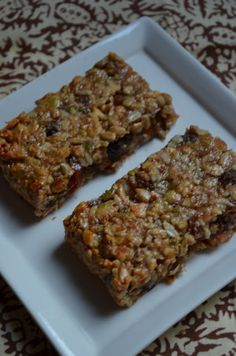 The Tasty Alternative: Chewy Granola Bars (grain free, dairy free, cane-sugar free, SCD friendly)