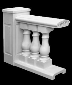 Stairs baluster for porches | Stone Balusters - The Classic Bellamy Design with Option for Stair ...