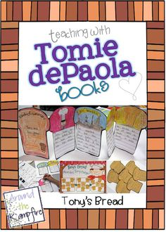 Teaching with Tomie dePaola Books Part 2: Tony's Bread. Blog series with loads of ideas for teaching with Tomie books! | Around the Kampfire