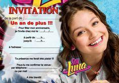 5 ou 12 cartes invitation anniversaire soy luna REF 361