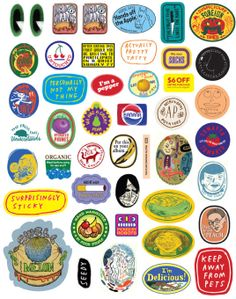 Lucky Peach 2 Fruit Stickers