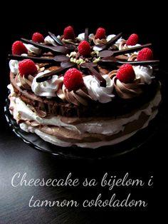 Cheescake sa bijelom i tamnom čokoladom