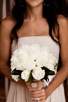 White rose bouquet for my bridesmaids...