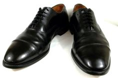 Allen Edmonds Shoes Black Leather Dress Oxfords Mens Park Avenue 10 E Wide #AllenEdmonds #Oxfords