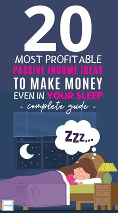 Looking to make extra cash, try out these 20 Best Passive Income Ideas to Make Money Even in Your Sleep. These best side hustles will make you tons of cash and build wealth, even as a beginner. These money making online streams are easy and I share a comp Make Money Fast, Make Money Blogging, Make Money From Home, Money Saving Tips, Earn Money, Make Money Online, Money Today, Cash Envelope System, Creating Passive Income