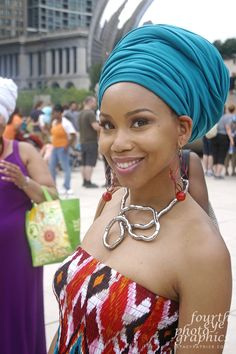 Please read this article why Sandria M. Washington was wearing her head wrap----pinned by Annacabella