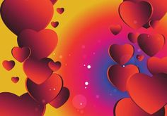 Red Yellow and Blue Valentines Background Vector Illustration Vector Free Download, Free Vector Art, Vector Graphics, Valentines Day Background, Heart Background, Art Images, Yellow, Blue, Vectors