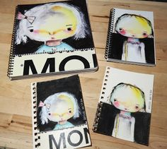 Used Shutterfly and made spiral bound notebooks from my Paige doll images.