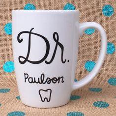 Doctor Coffee Mug Dentist Coffee Mug Custom by Hinzpirations
