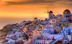 Golden Sunset in Santorini