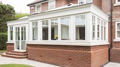 At Refurbish My Conservatory, our styles, designs and options are extensive and individual to your needs. Choose from our range of conservatory designs, offering living space and value, for the perfect addition to your home. Timber Windows, Windows And Doors, House Windows, Modern Conservatory, Orangery Extension, Contemporary Garden Rooms, Garden Room Extensions, Enclosed Porches, Window Design