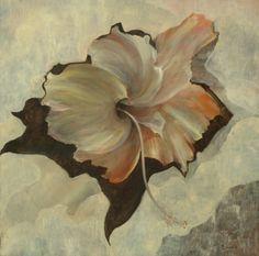 Brassai Gabi: Desire flower oil on canvas