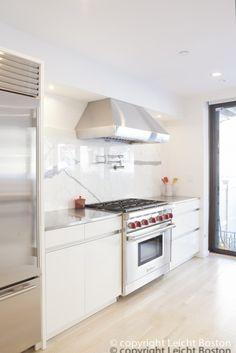 pot filler in a kitchen by Leicht Boston