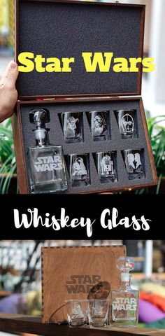 Star Wars Whiskey Decanter Set - Star Wars Home #starwars #whiskeyglass #glasses