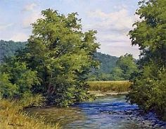 Lazy Days of Summer by Andrew Orr Oil ~ 16 x 20