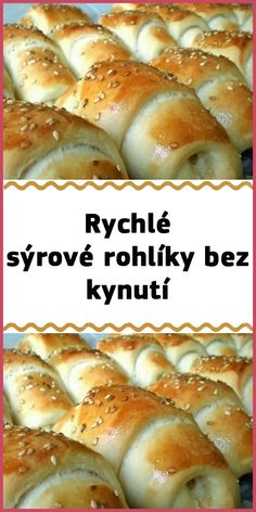Rychlé sýrové rohlíky bez kynutí Hot Dog Buns, Hamburger, Food And Drink, Vegetarian, Bread, Hamburgers, Bakeries, Breads, Loose Meat Sandwiches