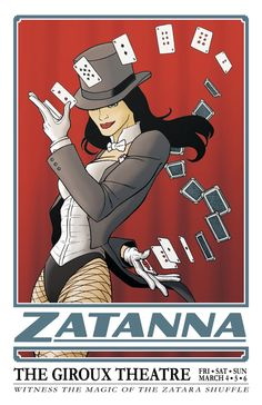 """Zatanna (Zatanna Zatara) is a fictional character, a super-heroine in the DC Comics universe. Created by writer Gardner Fox and artist Murphy Anderson, Zatanna first appeared in Hawkman vol. 1 #4 in 1964. One of the greatest magic-users, Zatanna is a magician like her father the legendary magician Zatara (Giovanni """"John"""" Zatara). Her method of spell-casting involves speaking words and sentences backwards. In addition to her career as a heroine, she is also a very notable stage performer. She…"""