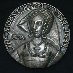 Reconstruction of Anne Boleyn's 'Moost Happi' portrait medal, by Lucy Churchill