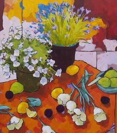 Arrangement of Six Tulips, Angus Wilson Wilson Art, Modern Impressionism, Still Life Art, Naive Art, Art For Art Sake, Painting Inspiration, Lovers Art, Art Images, Art Projects