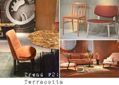 Milan Furniture Fair Trends: Top 6 For 2013 Terracotta Furniture Inspiration, Interior Inspiration, Design Inspiration, Plascon Colours, Milan Furniture, Garden Living, Creative Colour, Color Trends, Living Room